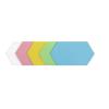 Hatszög moderációs kártya, 5 szín, 100 db