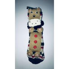 Házi gyerek Zokni - Maci #barna