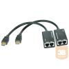 HDMI extender szett, lengőkábeles, 30 m külső táp nélkül