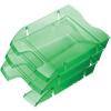 """HELIT Irattálca, műanyag, törhetetlen, HELIT """"Nestable Green Logic"""", áttetsző sötétzöld"""