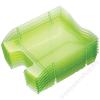 HELIT Irattálca, műanyag, törhetetlen, HELIT Nestable Green Logic, áttetsző zöld (INH2363550)