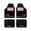 HELLO KITTY Autó padlószőnyeg szett Hello Kitty Star Egyetemes Fekete Rózsaszín (4 pcs)