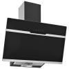 HelloShop Fekete rozsdamentes acél és edzett üveg fali páraelszívó 60 cm - Fekete parcel - parcel  munkanap
