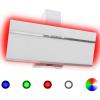 HelloShop Rozsdamentes acél és edzett üveg RGB páraelszívó LED-del 90 cm - Fehér parcel - parcel  munkanap
