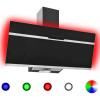HelloShop Rozsdamentes acél és edzett üveg RGB páraelszívó LED-del 90 cm - Fekete parcel - parcel  munkanap
