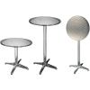 Hi kerek összecsukható alumínium bárasztal 60 x 60 x (58-115) cm