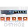 Hikvision DS-3E0105P-E PoE switch, 10/100, 4x PoE(58W) + 1x uplink port, L2, nem menedzselhető
