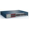 Hikvision Hikvision DS-3E0326P-E/M (B) 26 portos PoE switch (230 W), 24 PoE + 1 SFP + 1 RJ45 uplink port, nem menedzselhető