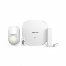 Hikvision Vezeték nélküli riasztó Szett - DS-PWA32-NST (868MHz, Hub, Ajtónyitás érzékelő, mozgásérzékelő, 5 db keytag) hub és switch