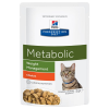 Hill's Prescription Diet 12x85g Hill´s Prescription Diet Feline Metabolic csirke nedves macskatáp