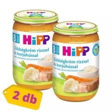 Hipp BIO zöldségkrém rizzsel és borjúhússal, 8 hó+ (2x220 g) bébiétel