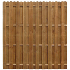 Hit&miss stílusú impregnált fenyő kerítéspanel 170 x 170 cm kerti dekoráció