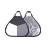 Hlif Ltd Két oldalas Trichromatic reflektor és ezüst derítőlap markolattal