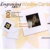 Hobby művész Karckép készlet - Üdvözlőlap szett borítékkal, arany képkarcoló