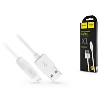 Hoco Apple iPhone Lightning USB töltő- és adatkábel 1 m-es vezetékkel - HOCO X1 Lightning Cable - 2.1A - fehér kábel és adapter