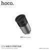 Hoco autótöltő (5V/2.4A) Apple készülékekhez - sötétszürke