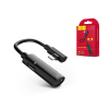 Hoco HOCO lightning + lightning adapter egyidőben történő töltéshez és zenehallgatáshoz - HOCO LS18 2in1 Converter - black