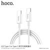 Hoco kábel két USB-C konektorral Apple MacBook - 1m - fehér