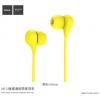 Hoco modern fülhallgató mikrofonnal Apple iPhone - sárga