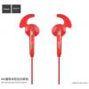 Hoco sportos fülhallgató jack konektorral Apple iPhone / iPod - piros