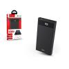 Hoco Univerzális hordozható, asztali akkumulátor töltő - HOCO J49 Power Bank - 2xUSB+Type-C+microUSB+PD+QC3.0 - 10.000 mAh - black