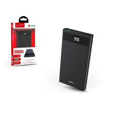 Hoco Univerzális hordozható, asztali akkumulátor töltő - HOCO J49 Power Bank - 2xUSB+Type-C+microUSB+PD+QC3.0 - 10.000 mAh - black power bank