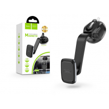 Hoco Univerzális műszerfalra/szélvédőre helyezhető mágneses PDA/GSM autós tartó - HOCO CA45A Center Console Magnetic Holder - fekete mobiltelefon kellék