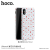 Hoco védőtok Apple iPhone X - szürke virágokkal