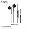Hoco Zorun fülhagató mikrofonnal és jack konektorral Apple készülékekhez - sötétszürke