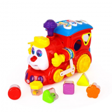 HOLA Apollo Hola - Gyümölcsös formarendező játékvonat kreatív és készségfejlesztő