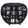 Home&Styling Home&Styling Brussel fekete rattan kubu ülőke