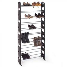 Hoppline 10 soros cipőtároló- fekete dekoráció