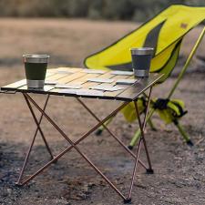 Hordozható, összecsukható kemping asztal kerti bútor