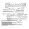 - Hőszigetelő dekorkő (48cm x 13cm EPS panelek) fehér