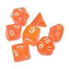 Hot Games Dobókocka szett - átlátszó neon narancs (7 darabos) - /EV/