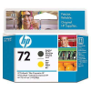 HP C9384A No.72 Matt Fekete és Sárga Eredeti Nyomtatófej