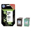 HP SD449EE Tintapatron DesJet 460 mobil, 5740, 6540d nyomtatókhoz, HP 338/343 fekete, színes
