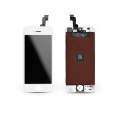 HQ LCD kijelző érintőpanellel - Apple iPhone 5S - HQ AAA kiváló minőségű, utángyártott - fehér mobiltelefon kellék