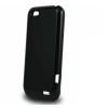 HTC ONE V, TPU szilikon tok, fekete