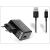 Huawei gyári USB hálózati töltő adapter + micro USB adatkábel 80 cm-es vezetékkel - 5V/1A - HW-050100E1W black (ECO csomagolás)