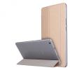 Huawei Mediapad M3 Lite 8.0, mappa tok, Trifold, átlátszó hátlap, arany