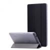 Huawei Mediapad T3 7.0, mappa tok, Trifold, átlátszó hátlap, fekete