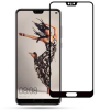 Huawei P20, Kijelzővédő fólia, ütésálló fólia (az íves részre is!), Tempered Glass (edzett üveg), 3D Full Cover, fekete