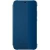 Huawei P20 Lite, Smart View gyári flip tok, kék