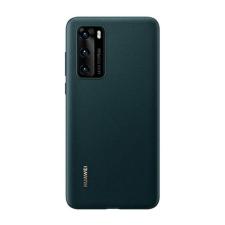 Huawei P40 Silicone Cover, gyári szilikon tok, zöld tok és táska