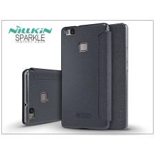 Huawei P9 Lite oldalra nyíló flipes tok - Nillkin Sparkle - fekete tok és táska