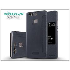 Huawei P9 oldalra nyíló flipes tok - Nillkin Sparkle - fekete tok és táska
