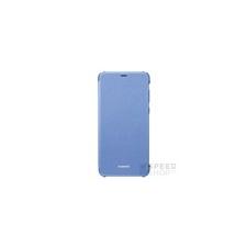 Huawei P Smart, gyári flip tok, kék tok és táska