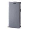 Huawei Smart magnet Huawei Ascend P9 lite oldalra nyíló mágneses könyv tok szilikon belsővel szürke