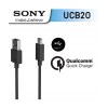 Huawei Sony UCB-20 Type-C adatkábel, fekete, csomagolás nélkül